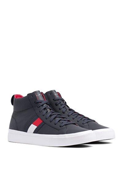Tommy Hilfiger Erkek Flag Detail High Deri Sneaker FM0FM01713