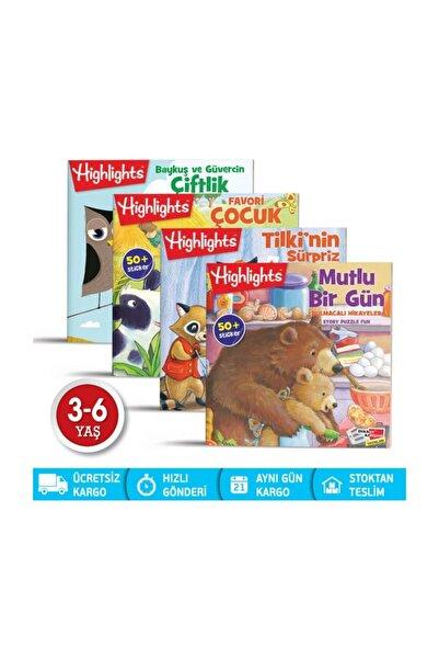 Highlights Yayınları Sticker Bulmacalı Hikayeler 4'lü Set
