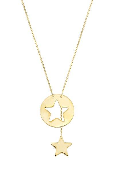 Altınbaş Kadın Altın Yıldız Kolye KLMK7094-24754