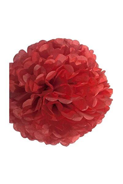 Parti dolabı 1 Adet Kırmızı Ponpon Gramafon Çiçek Kağıt Doğum Günü Parti Süsü