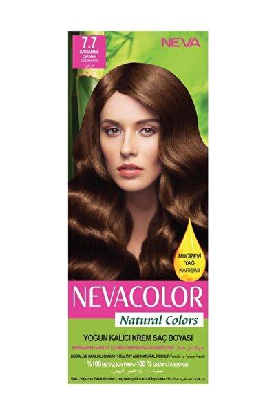 Neva Color Saç Boyası Seti 7.7 Karamel 8698636612364