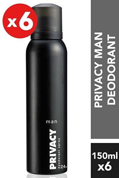 Privacy 6'Lı Erkek Deodorant - 6X150 ml
