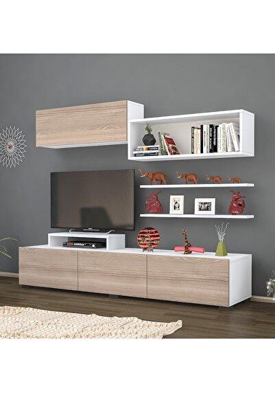 Haus Modüler Dekor Tv Sehpası Cordoba-beyaz