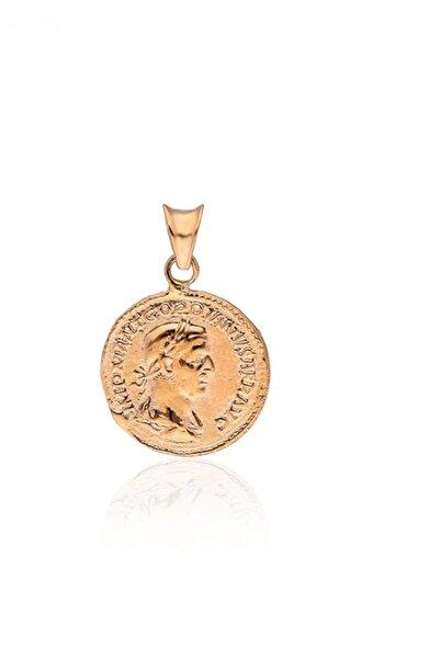 PinkGoldStore İskender Madalyon 14 Ayar Pembe Altın Kolye ucu