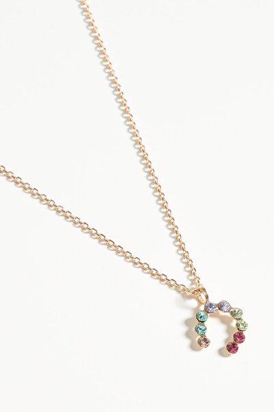Lapidore Kadın Lucky Charm Multicolor Taşlı Rose Gold Kolye LKR1069