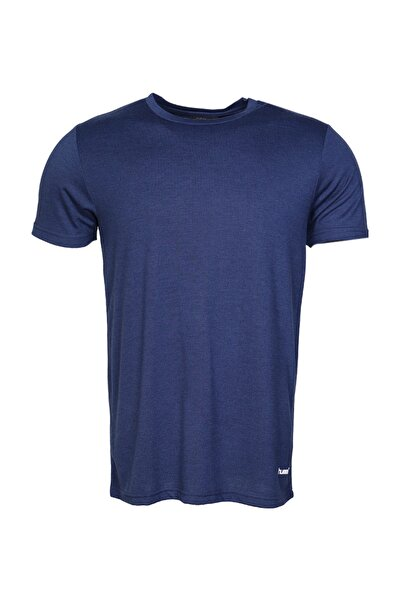 HUMMEL HMLCARLOS  T-SHIRT S/S TE Lacivert Erkek T-Shirt 100579835