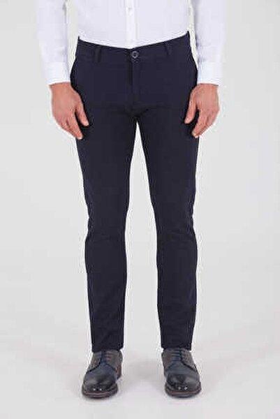 Desenli Slim Fit Lacivert Pantolon 29262019A001