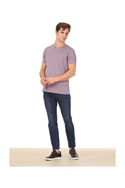 Ramsey Lila Düz Örme T - Shirt RP10113893
