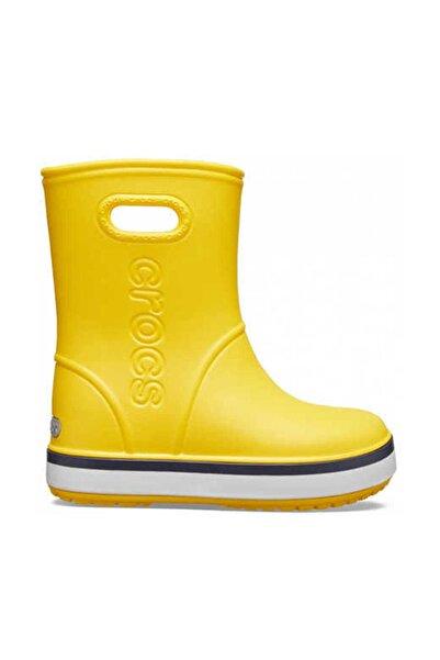 Crocs 205827-734 Yellow Crocband Rain Boot