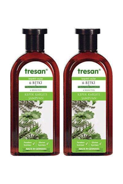Tresan 6 Bitki Kepek Karşıtı Şampuan 300 ml  x 2 Adet