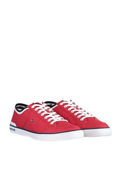 Tommy Hilfiger Erkek Kırmızı Sneaker FM0FM00543