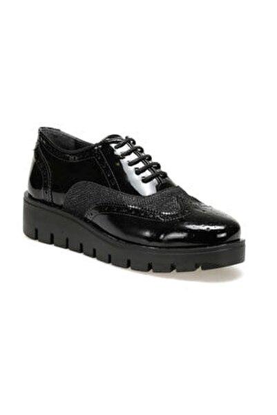 19k-007 Siyah Kadın Oxford Ayakkabı
