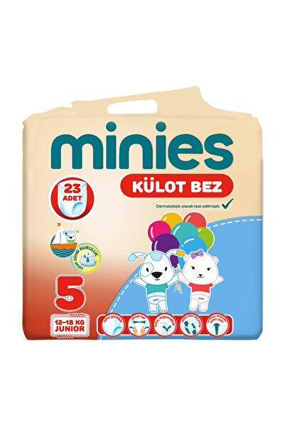 Minies Külot Bez 5 Beden 23 Adet 12-18 Kg Junior