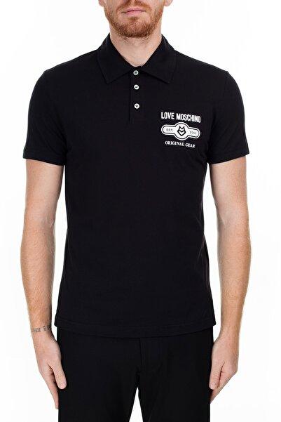 Love Moschino Erkek Siyah T-Shirt S M831803M3876 C74