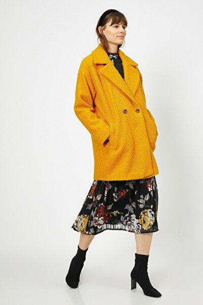 Koton Kadın Sarı Cep Detayli Kaban 0KAK06913EW
