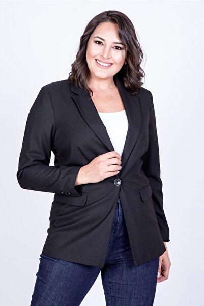 MYLİNE Kadın Siyah Blazer Ceket 35025