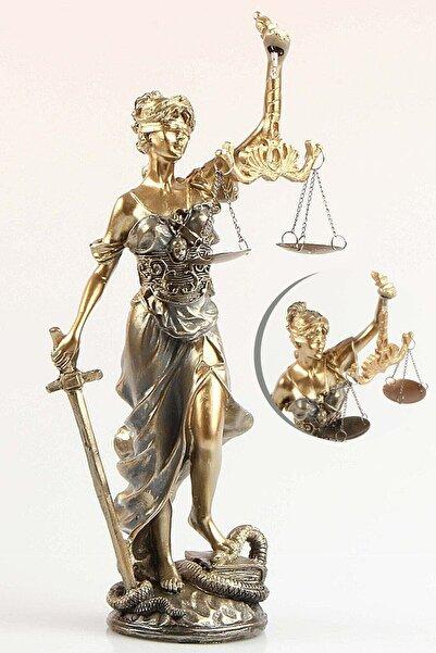 Aleyna'nın Dükkanı Adalet Terazisi 23 Cm Heykel Biblo