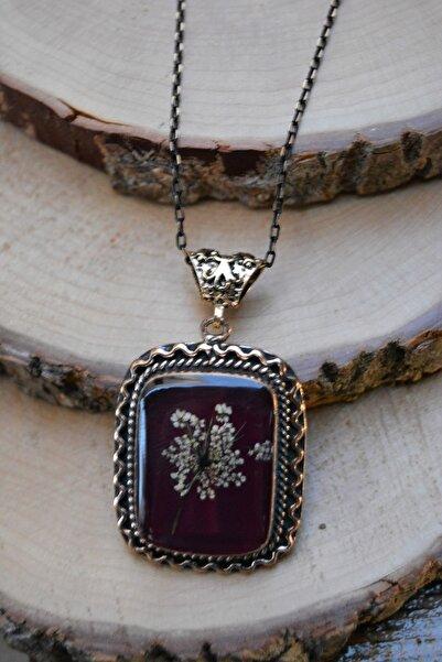 Stoneage Jewellery Gerçek Çiçeklerden Yapılmış Tasarım Bayan Kolye