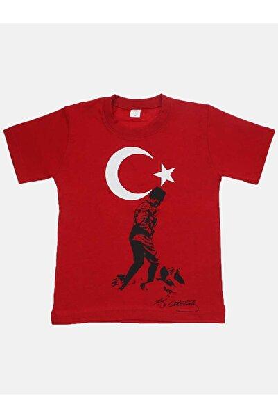 Modakids Unisex Kırmızı Atatürk T-Shirt