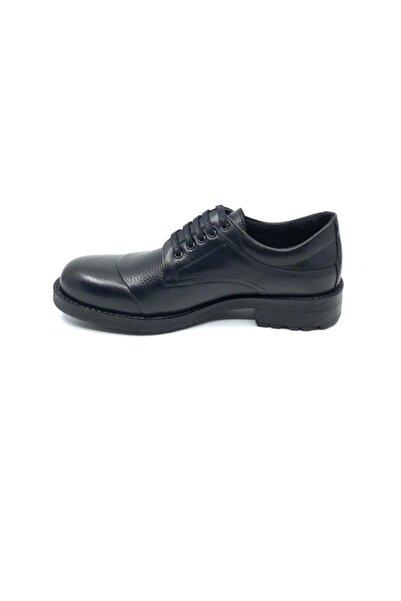 Fosco Siyah Hakiki Deri Kauçuk Taban Sıcak Astar Kışlık Erkek Ayakkabı 7520 551 600
