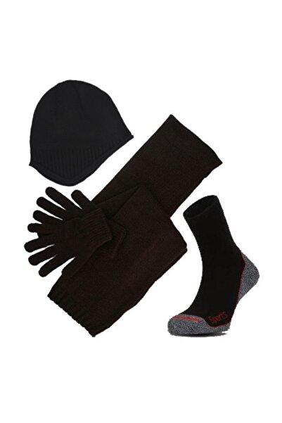 Hepsi Dahice Kışın Sizi Isıtacak 4lü Set Bere-atkı-eldiven-çorap