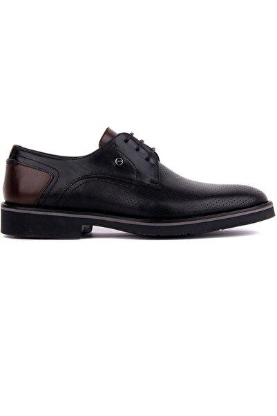 Fosco Bağcıklı Siyah Deri Erkek Günlük Ayakkabı 9129 46 42