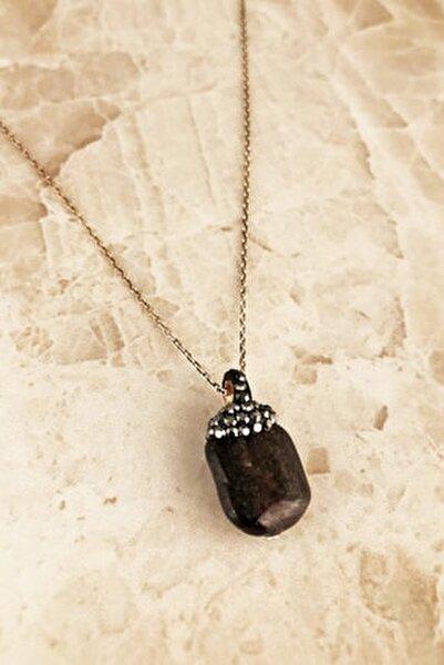 Doğaltaş Kadın Garnet Taşı 925 Ayar Gümüş Kolye RYL138