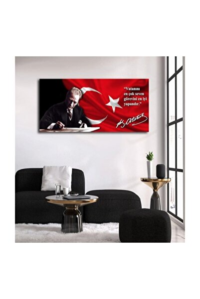 TABLO KANVAS Tablokanvas Atatürk Makam Panolu Kanvas Tablo