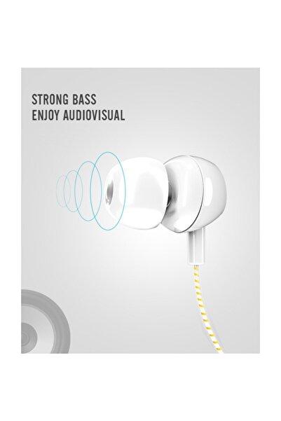 Remax Yk Desıgn Yk R7 Taşınabilir 3.5 mm Kulak İçi Kulaklık-Beyaz Sarı