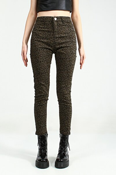 Collezione Kadın Haki Skinny Pantolon Sersiya Ucb021845A44 UCB021845A44