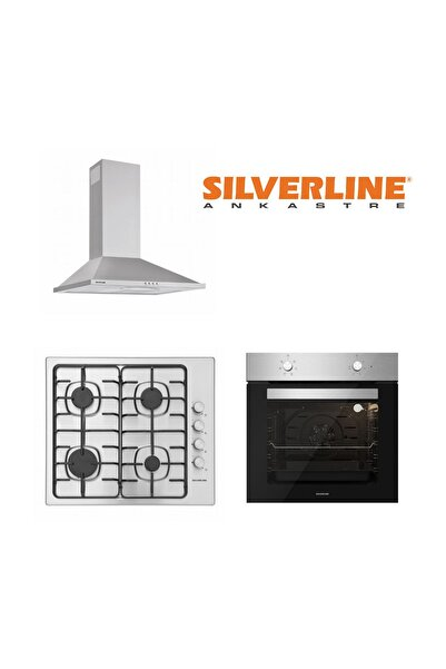 Silverline Conic Inox 2240.6 60CM Davlumbaz+AS5378X01 60CM +BO6501X01