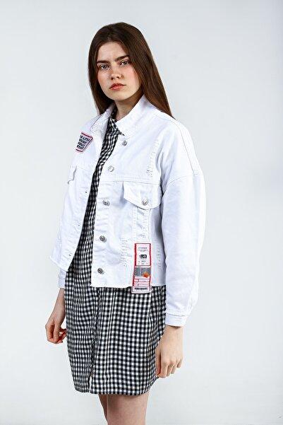 Collezione Beyaz Kadın Koyu Mavi Spor Regular Ceket