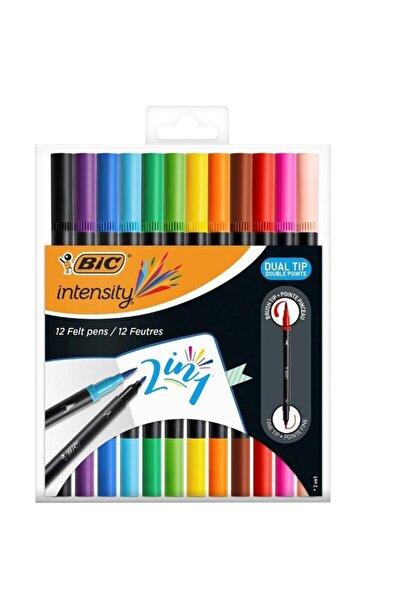 Bic Çift Taraflı Keçeli Boya Kalemi 12 Renk