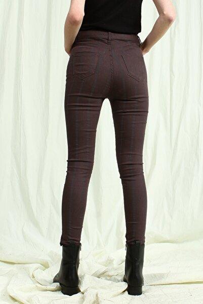 Collezione Kadın Antrasit Skinny       Pantolon