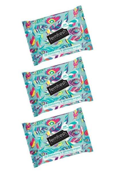 Femfresh Genital Bölge 25'li Islak Mendili - Feminine Freshness Intimate Wipes 25 Piece x 3