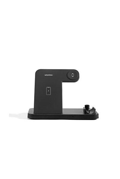 MARSTEC 4'ü Bir Arada Iphone Uyumlu Kablosuz Şarj Aleti
