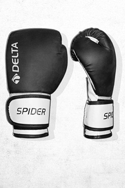 Delta Boks Eldiveni Siyah Beyaz Pvc Hava Kanallı Terleme Önleyici Kumaş Kick Boks Eldiveni 1 Çift