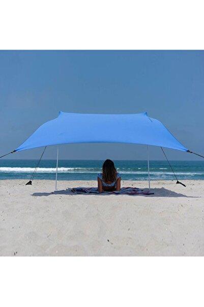 Bundera Zelt 2,4 Metre Gölgelik Tente Plaj Şemsiyesi Bahçe Teras Çardak Kamp Piknik Güneşlik Şemsiye