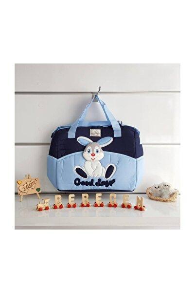 bebegen Tavşan Kabartmalı Bebek Çantası Mavi
