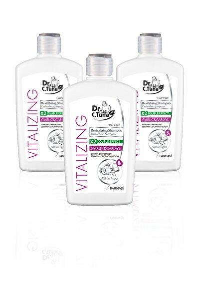 Farmasi Dr. C. Tuna Vitalizing Tüm Saçlar Için Canlandırıcı Sarımsaklı Şampuan-500ml 3'lü Set