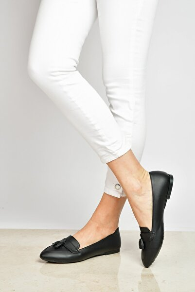 Shoes Time Siyah Kadın Babet 19Y 103