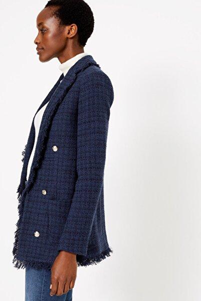 Marks & Spencer Kadın Lacivert Tüvit Blazer Ceket T59005908J