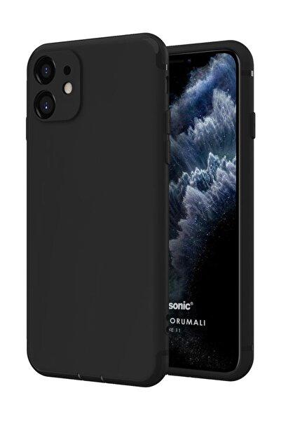 Microsonic Apple Iphone 11 (6.1'') Kılıf Kamera Korumalı Siyah