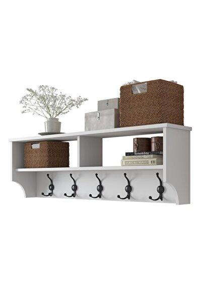 Rani Mobilya P2 Modern Portmanto Duvar Askısı Beyaz Vestiyer