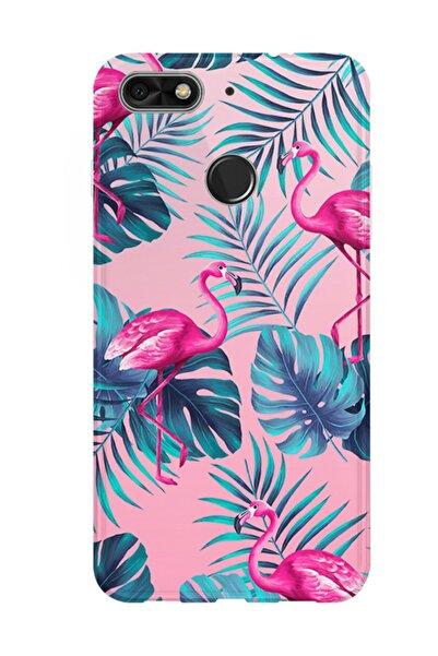 Kılıfland General Mobile Gm8 Go Kılıf Silikon Desenli Resimli Lüx Kapak Flamingo Pattern -stok 1032