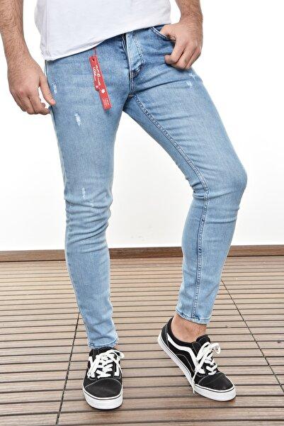 Lose Jeans Buz Mavi Tırnaklı Slimfit Pantolon