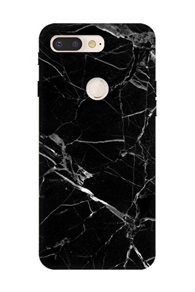 Cekuonline General Mobile Gm 9 Pro Kılıf Desenli Resimli Hd Silikon Telefon Kabı Kapak - Mermer Siyah