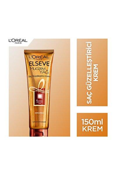 L'Oreal Paris Elseve Mucizevi Yağ Saç Güzelleştirici Krem 150 Ml (Kuru Ve Sert Saçlar İçin)