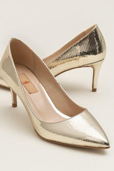 Elle Shoes LANNA Gold Yılan Kadın Ayakkabı