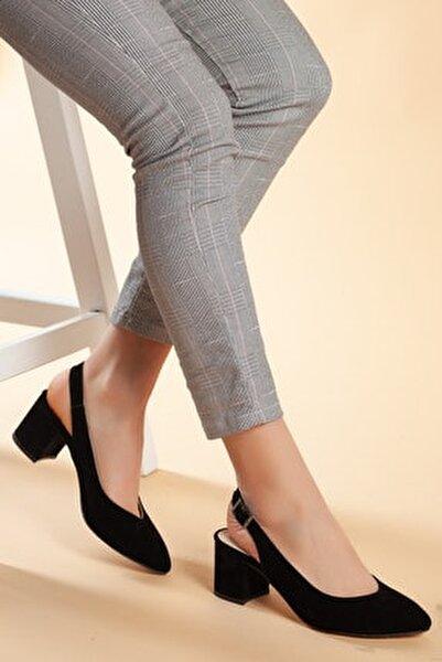 Siyah-Süet Kadın Ayakkabı DXTRSGZH209